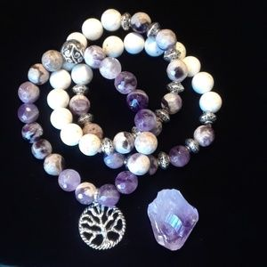 Jewelry - Beautiful Amethyst Crystal Tree of Life Bracelet